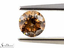 Fancy Orange Brown Natural Color 1.06 ct carat Loose Diamond round NO GIA