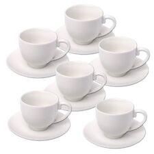 Espresso Tazas y platillos juego alpina, Cerámica, Blanco - 12pc Set 75ml