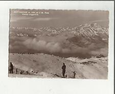 95562 mottarone e il monte rosa con sciatori sci
