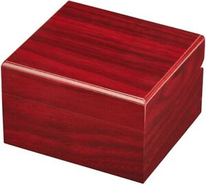 Premium Single Wood Watch Gift Box with Pillow, Wooden Jewelry Bracelet