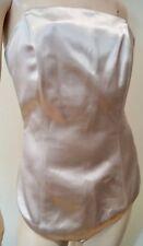 MAISON MARTIN MARGIELA Pale Gold Cream Sheen Evening Corset Top 42 UK10 BNWT