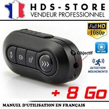 TÉLÉCOMMANDE CLÉ DE VOITURE CAMÉRA ESPION TCHD1 FULL HD 1080P + 8 GO 2 LED IR