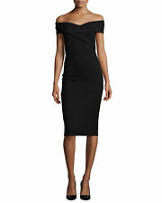 MICHAEL MICHAEL KORS Crossover Off-The-Shoulder Dress in Black Size S