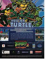 Vintage RETRO Teenage Mutant Ninja Turtles 2 Gamecube XBOX  video game ad