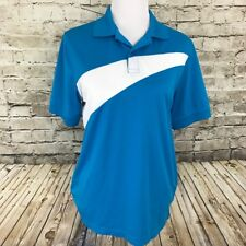 IZOD PerformX Golf Blue White Men's Casual Polo Men's Size Small