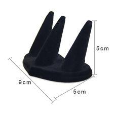 Display Rack Jewelry Ring Holder Ring Holder Velvet Black Ring Display Stand