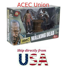 The Walking Dead Mcfarlane Series 8 Morgan & Impaled Walker Spike Trap In Hand