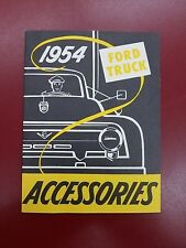 Vintage 1954 Ford Truck Accessories Booklet - New - Perfect Condition