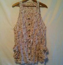 Phanuel Women's Dress Sz M Sleeveless Drawstring Cargo Paisley Jumpsuit Short