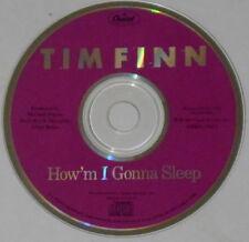 Tim Finn  How'm I Gonna Sleep Split Enz  U.S. promo cd