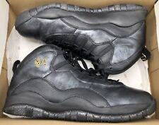 Jordan Retro X 10 NYC Black Metallic Gold Grey City Pack OVO 310805-012 Sz 12