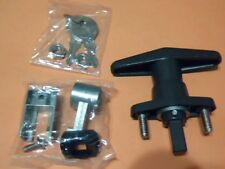 T-Handle Shutter Lock, Accordion Hurricane Storm Shutter Lock, Bronze, DEALER