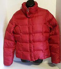 Eddie Bauer Goose Down Puffer Ski Jacket Burgundy Womens Size Large