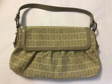 fendi monogram handbag Beige Evening Bag Authentic