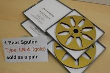 "Tonbandspule 7""  177,6 mm,  1 Paar für kl. Nagra, Grundig, Saba, -NEU- Nr. LN4"
