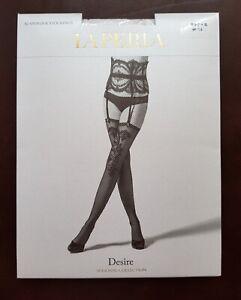 New La Perla Suspender Stockings Desire Stockings Size S White