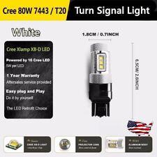 1 pair Turn Signal Light Bulbs Car 80W 16SMD 12V White Led for 15-16 Subaru WRX