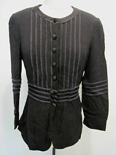 Vintage Moschino Cheap & Chic Black Designer Button Jacket Size US 10