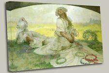 Canção da Boêmia - Alphonse Mucha , Canvas Wall Art Picture Print