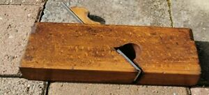Vintage Wooden Skew Rebate Plane  with very faint makers stamp, Buck & Hickman.