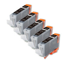 5 NEW BLACK Ink Cartridge + smart chip for Canon CLI-8BK iP4300 IP4500 MP500