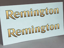2 WATER SLIDE DECALS OF REMINGTON GOLD and BLACK LOGO FOR TYPEWRITER RESTORATION