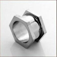 Túnel bollos Plug piercing oreja hexagonal - 3mm, 4mm, 5mm -