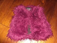* NEW Size 3T 3 Toddler Girls UGG Faux Fur Fringe Vest Balfour Sugar Plum Purple
