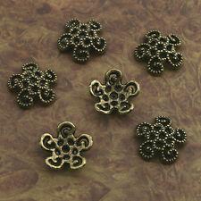 16pcs antiqued bronze flower bead cap findings X0251