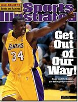 June 4, 2001 Shaquille O'Neal L.A. Lakers SPORTS ILLUSTRATED NO LABEL Newsstand
