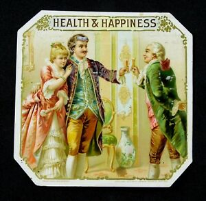 Health and Happiness - Cigar Box Label