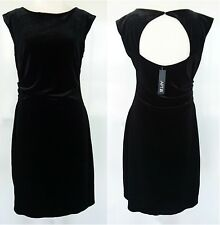 APT.9 Black NWT Velvet Look Open Back LBD Cocktail Evening Women's Dress Size M