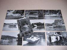 1960s AMPHIBIOUS DUCK BOATS WISCONSIN DELLS WI. VTG REAL-PHOTO RPPC POSTCARD LOT