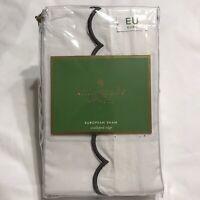 Kate Spade Scalloped Edge W/ Charcoal Vintage Floral Euro Sham New $59.99