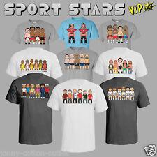VIPwees Mens T-Shirt ORGANIC Cotton Sporting Inspired Caricatures Choose Design