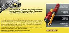 Rsx123 Spax RSX COILOVER KIT fit RENAULT CLIO CUP 182 60mm Boulon Espacement 04 >