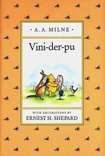 VINI-DER-PU, A Yiddish Version of Winnie-the-Pooh (Yiddish Edition) - Good - Mil