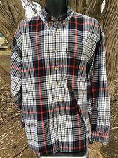 Izod Button Down Collar Shirt Mens Size XL Plaids Eyeglass Arm Sleeve