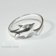 Solid 925 Sterling Silver Toe / Midi Ring Dolphin New with Gift Bag Free UK P&P