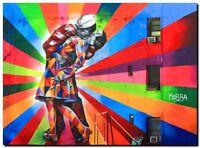 "Street Art Brazil The Kiss Kobra CANVAS PRINT poster 16""X12"""