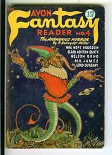 AVON FANTASY READER #4, rare US horror digest vintage pb, Clark Ashton Smith