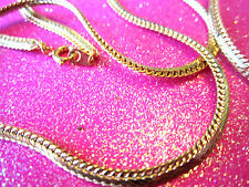 Small Gold Herringbone Necklace 28 Inches Long