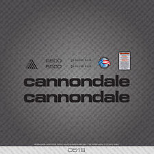 0518 Black Cannondale R500 Bicycle Stickers - Decals - Transfers