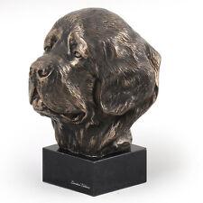 Neufundländer, Hundemarmorstatue Büste, ArtDog, CH
