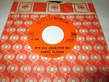 "CAROL SLOANE It's All Over For Me 45 7"" NM US 1963 JAZZ VOCAL POP VINYL LISTEN"