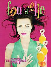 PUBLICITE ADVERTISING 025  1997  TED LAPIDUS parfum FOU D'ELLE