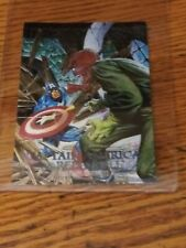MARVEL MASTERPIECES 1992 SPECTRA ETCH CARD CAPT AMERICA RED SKULL
