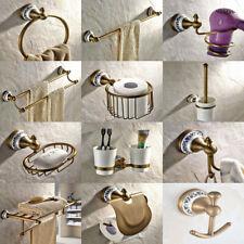 Antique Brass Ceramic Base Bathroom Accessories Set Hardware Towel Bar fset011