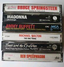 Rock Pop Cassette Lot Purple Rain Prince Madonna Jimmy Buffett Reo Speedwagon