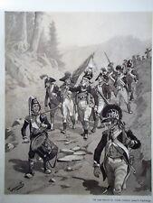 """c71-4 Gravure contes et récits d'Alsace - """"une panique"""" par Tanconville"""